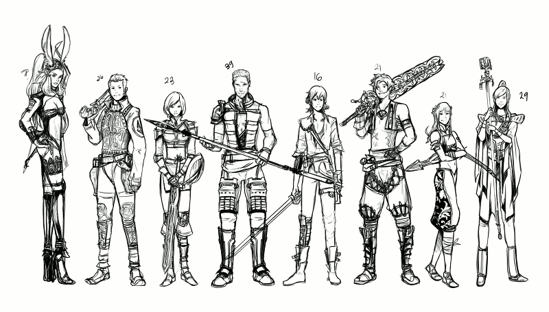 Party line-up, by Laikkuseia