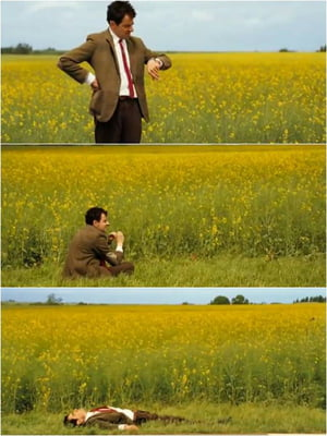 Mr. Bean waiting