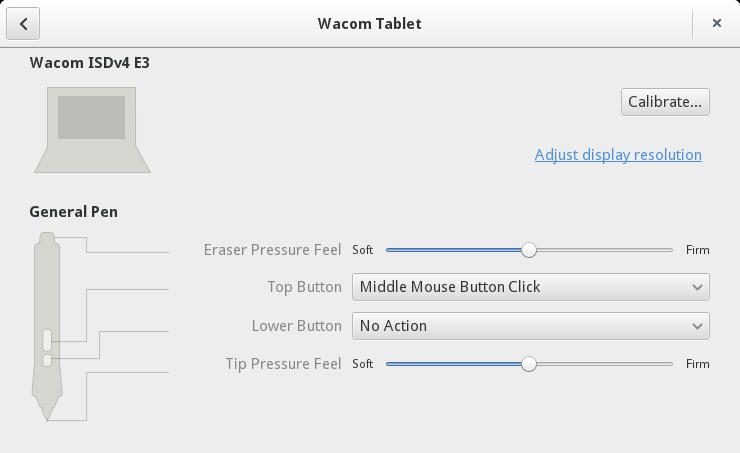 gnome 3.12 wacom tablet control center