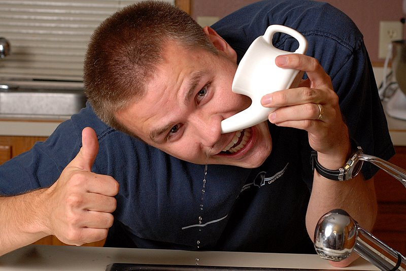 neti pot sinus rinsing epic dude