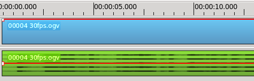 pitivi waveform multiple channels